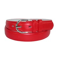 CTM Women's Leather 1 1/8 Inch Dress Belt