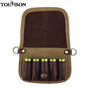 Tourbon Tactical Hunting Accessory Shotgun 12 Gauge Ammo Shells Holder Canvas Pouch Cartridges Carrier Hold Belt for Shooting