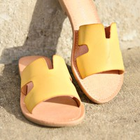 Point Of View Sandals - Mustard