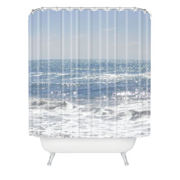 Lisa Argyropoulos Crystal Blue Shower Curtain