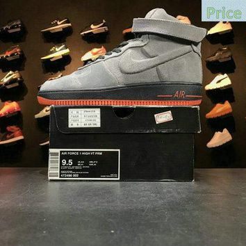 Sneaker paint Nike Air Force 1 High VT Vac Tech Premium Anthracite Orange 472496 002 Mens Sneakers Casual Shoes sneaker