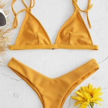 Swimsuit Beach Hot New Arrival Summer Sexy Low Waist Swimwear Bikini [2083028074550]
