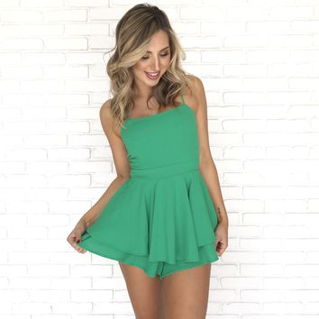 Feeling Lucky Romper in Green