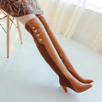 sexy Boots for woman shoes fashion lady autumn winter long boots over the knee thin heels slim leg warm high heels shoes female