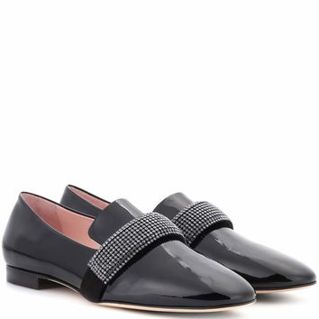 Crystal Band patent leather loafers