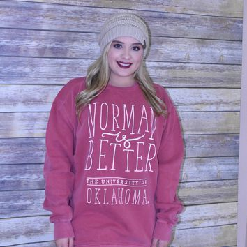 Norman is better comfort colors sweatshirt