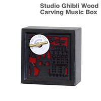 Studio Ghibli Kiki's Delivery Service Wooden Type Music Box (Kiki and Jiji)