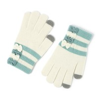 Bows and Stripes Touch Screen Gloves  | Icing