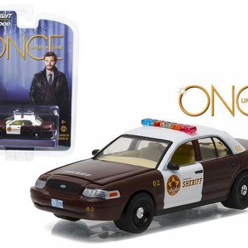 """Sheriff Graham\'s 2005 Ford Crown Victoria Police Interceptor \Storybrooke\"""" Once Upon a Time (2011 Current) TV Series-1/64 Diecast Model Car-by Greenlight"""""""