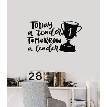 Vinyl Wall Decal Leader Quote Leadership Reading Lettering Inspirational Art Stickers Mural (ig5475)