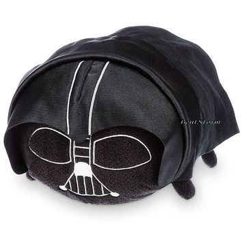"Licensed cool NEW Star Wars 11"" Darth Vader Helmet Tsum Tsum Plush Medium Toy Disney Store USA"