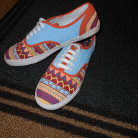 Tribal Print Shoes by PaintItBetter on Etsy