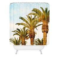Catherine McDonald Some Place Sunny And Warm Shower Curtain