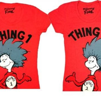 Dr. Seuss Thing 1 & 2 Red Toddlers T-shirt