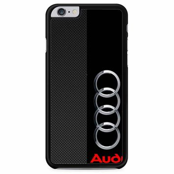 Audi Logo On A Field Of Black iPhone 6 Plus/ 6S Plus Case