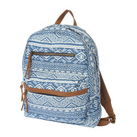 Denim Aztec Print Backpack