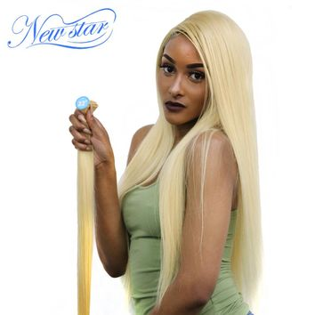 New Star Brazilian Blonde #613 Straight Hair 100%Human Hair Weaving One Platinum Bundles Remy Hair Free Shipping