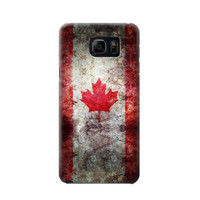 P7098 Canada Maple Leaf Flag Texture Phone Case For Samsung Galaxy S6 edge plus
