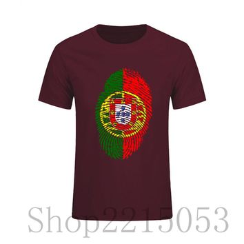 Screen Print Portugal Flag Fingerprint T Shirt Men fashion Large Size 6xl T-Shirt male tshirt Cristiano Ronaldo futbol Jersey nk