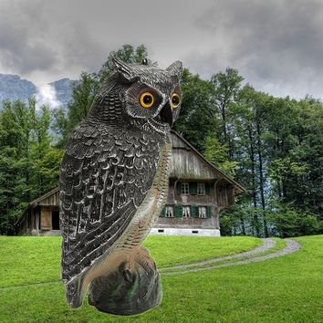 1pcs 40cm*19cm Hunting Decoys Plastic Owl Outdoor Garden Decoration Ornaments For Hunting Decoys Scarer Scarecrow hunting decoys