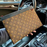 LV Louis Vuitton High Quality Fashion Women Makeup Bags Handbag Men Business Bag Clutch Bag