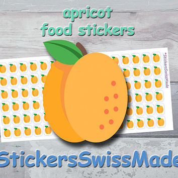 PLANNER STICKER || apricot || food || fruit || small colored icon | for your planner or bullet journal