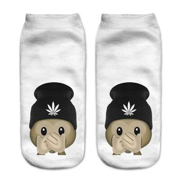 Dope Dealer Monkey Emoji Ankle Socks