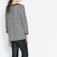 TWO TONE KNIT JUMPER - Woman - New this week | ZARA United States