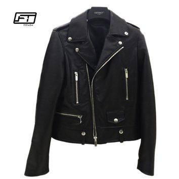 Fitaylor New Spring Autumn Women Leather Jacket Soft PU Faux Leather Jacket Casual Moto Biker Outwear Punk Jackets