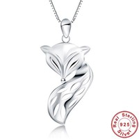 925 Sterling Silver Pendants Sexy Fire Fox Pendants For Women Silver Fox Pendants Brand New Fine Jewelry