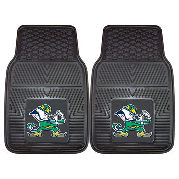Notre Dame Fighting Irish NCAA Heavy Duty 2-Piece Vinyl Car Mats (18x27)