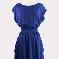 Navy Tie-Back Dress
