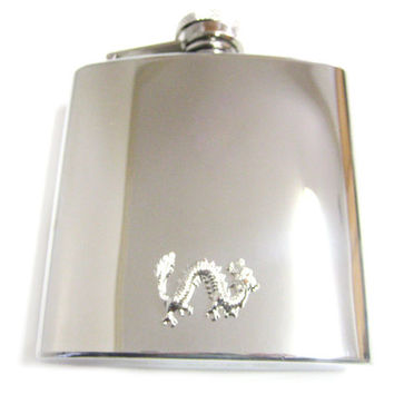 Dragon Pendant 6 oz. Stainless Steel Flask