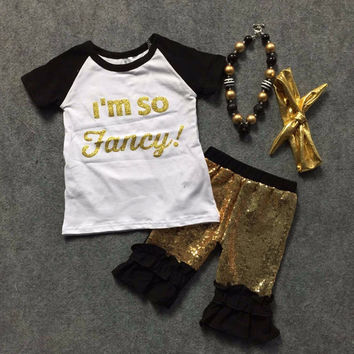 In Stock-I'm so fancy sequin Capri set