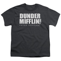 THE OFFICE/DUNDER MIFFLIN - S/S YOUTH 18/1 - CHARCOAL -