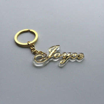 custom key chain with name,key ring,gold keychain,unique key chain,personalize gift for her,glitter keychain,keychain gift ideas