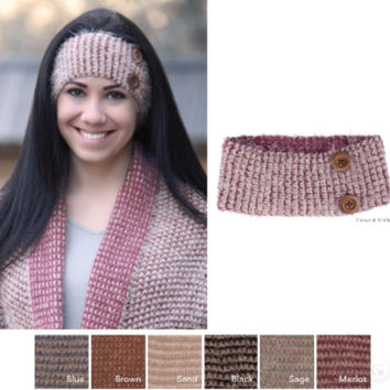 Honey Comb Headband with Buttons - CLOSEOUT