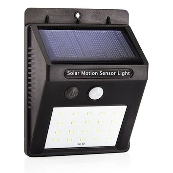 LED Solar Power Motion Sensor Light (Waterproof)