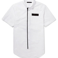 Alexander Wang - Webbing-Trimmed Cotton Short-Sleeved Shirt | MR PORTER