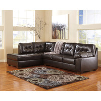 Flash Furniture Signature Design By Ashley Alliston Sectional In Chocolate Durablend