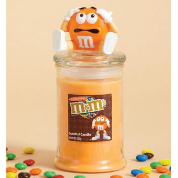 4 Pillar Candles - Orange M&m