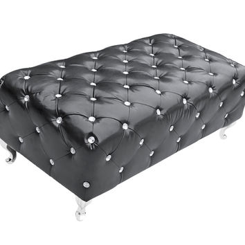 Mod Imports  Tufted Bench, Black