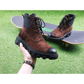 Sale Hermes Cow Barking Brown Boot Knight Motorcycle Boots