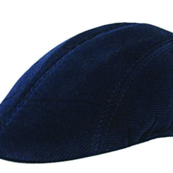 Pipi Cool men Tweed Newsboy Beret Cabbie Hat Peaked Cap Stretch navy