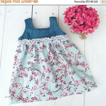 ON SALE Girls Ruffle Dress - Baby Girl Ruffle Dress - Girls Mint Dress