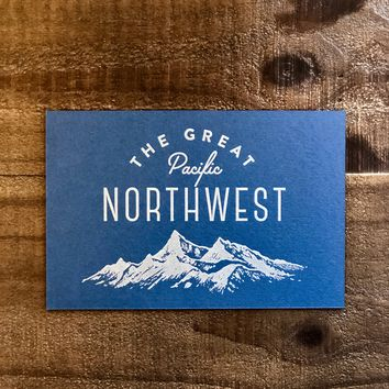 Great PNW Mountain Scape Postcard
