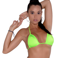 New Full Curtain Triangle Bikini Top
