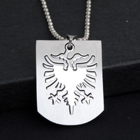 Men Necklace Stainless Steel Phoenix Albania Flag Cutting Pierced Necklace For Men Male Pendant Necklace Chain dropshipping