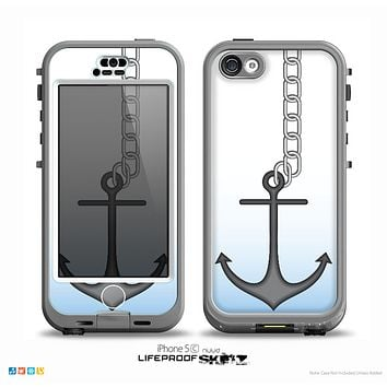 The Gray Chained Anchor Skin for the iPhone 5c nüüd LifeProof Case