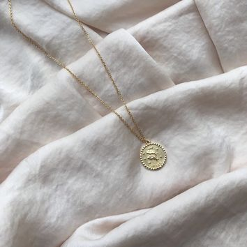 Large Coin Zodiac Necklace